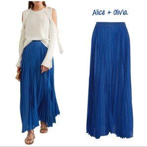 Alice + Olivia Katz sunburst pleated maxi skirt 10